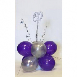 Table Spangle Air Filled Plain Colour Balloon with Number