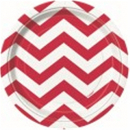 Chevron Ruby Red