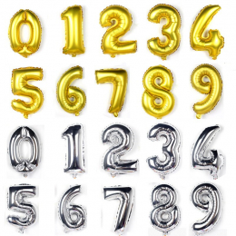 Small Number Foil Balloon ( Uninflated )