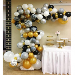 Organic Half Arch ( with Confetti Balloon & Chrome or Marble Balloon)