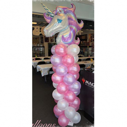 Balloon Column with Large Foil Balloon