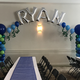 Column Arch with Name or Number Foil Balloon