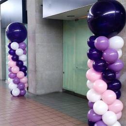 Balloon Column with Large Around Latex Balloon