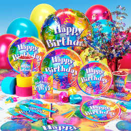 Party Supplies & Uninflated Balloons
