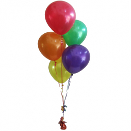 Plain Colour Helium Balloon Bouquest