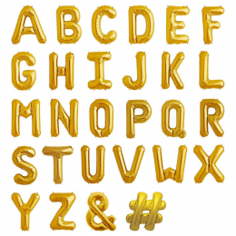 Small Letter Foil Balloon ( Uninflated )