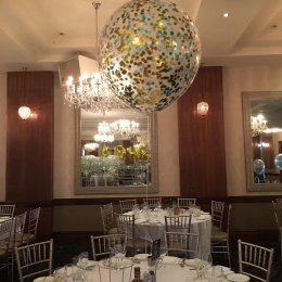 60cm Confetti Premium Latex Balloon with Helium & Weight