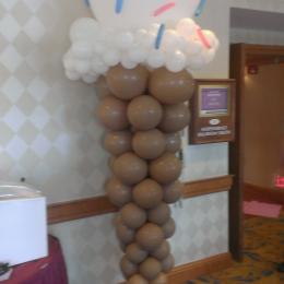 Balloon Column Ice Cream Cone