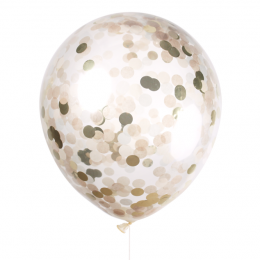 Loose 30cm Confetti Premium Latex Balloon with Helium