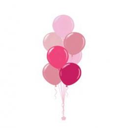 Plain Colour Helium Balloon Bouquests 7 Balloons