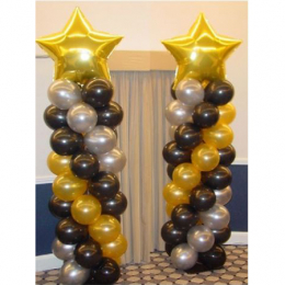 Balloon Column with Small Foil Balloon