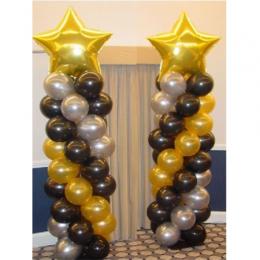 Balloon Column with Small Foil Balloon