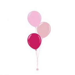 Plain Colour Helium Balloon Bouquests 3 Balloons
