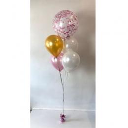 Plain Colour & Confetti Helium Balloon Bouquest