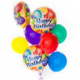 Plain Colour & Foil Helium Balloon Bouquest